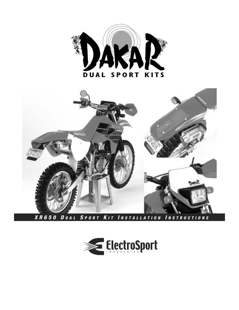 Electrosport Honda XR650 Dakar Kit | manualzz com