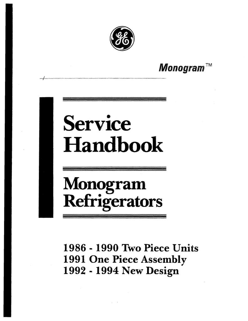 GE Monogram Refrigerator Service Handbook   Manualzz   Ge Monogram Refrigerator Wiring Diagram      Manualzz