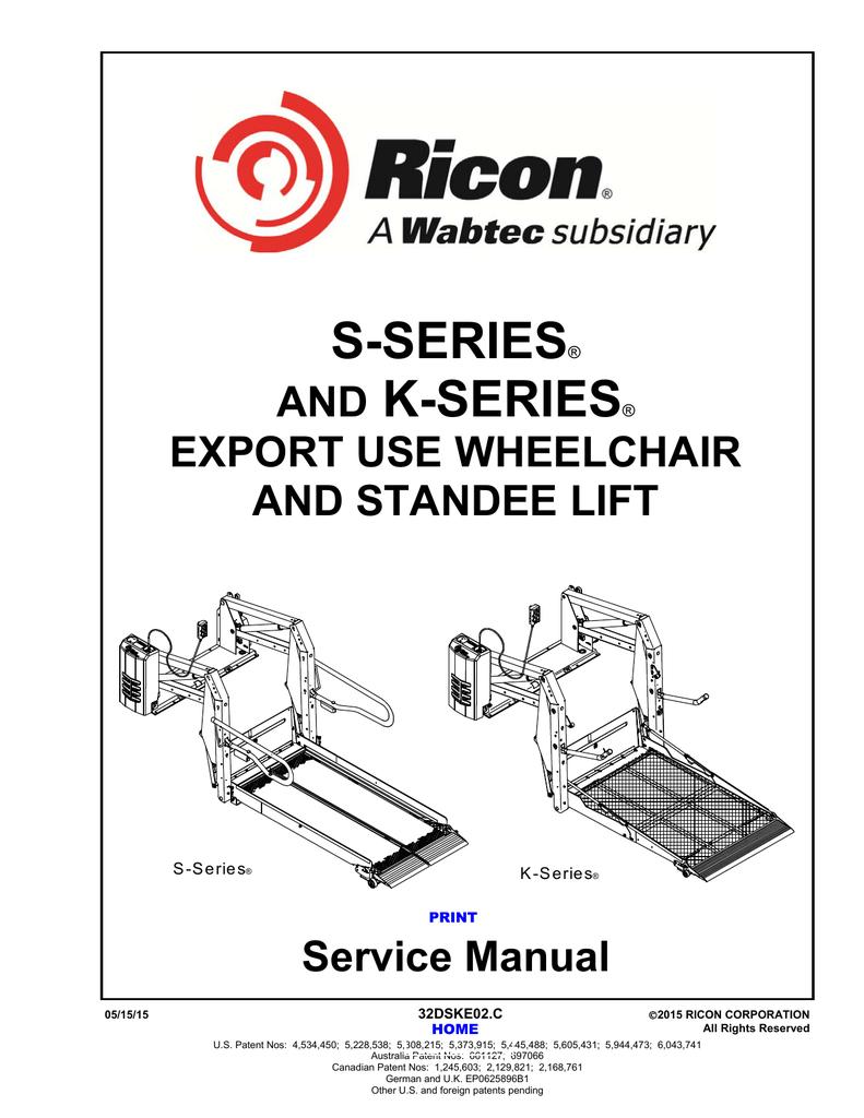 [DIAGRAM_5NL]  S/K-Series, Export Use Lifts | Manualzz | Ricon Wiring Diagram |  | manualzz