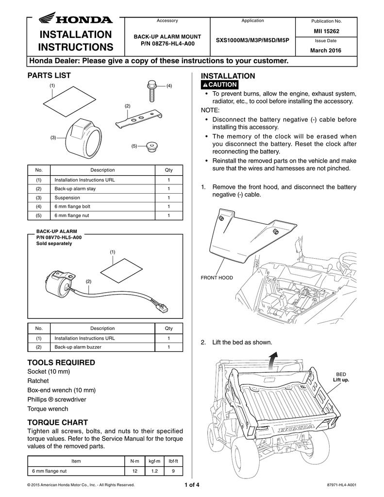 SXS1000M3/M3P/M5D/M5P: Back | manualzz com