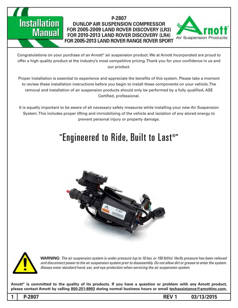 Dunlop Air Suspension Compressor | manualzz com
