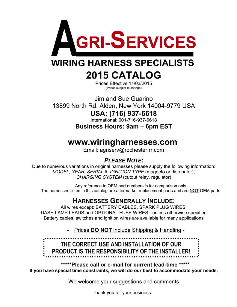2015 catalog - Wiring Harnesses | manualzz.com on