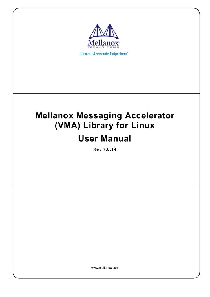 User Manual - Mellanox Technologies | manualzz com