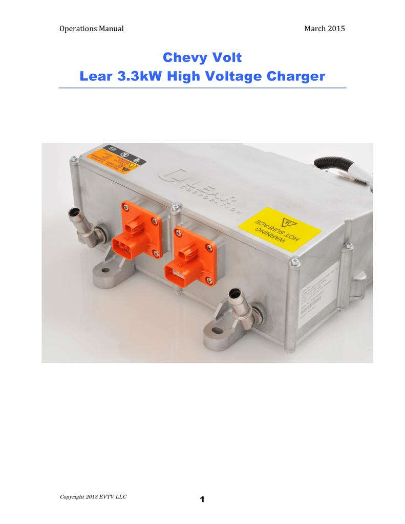 Chevy Volt Lear 3 3kW High Voltage Charger   manualzz com