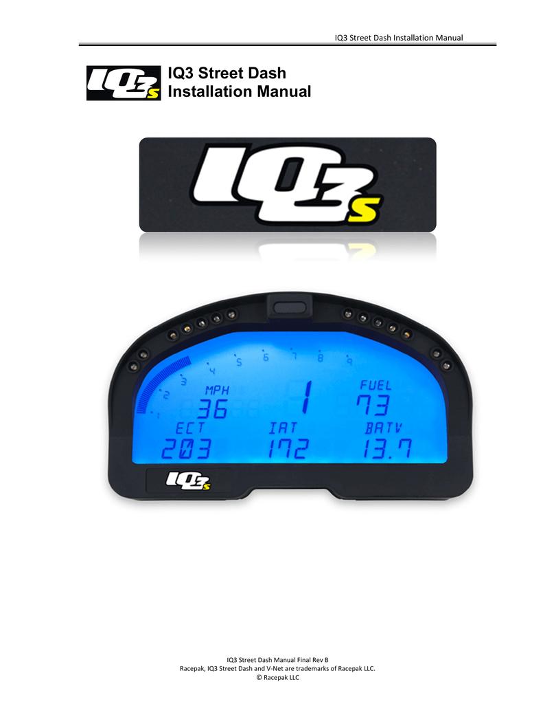 IQ3 Street Dash Installation Manual | manualzz.com on