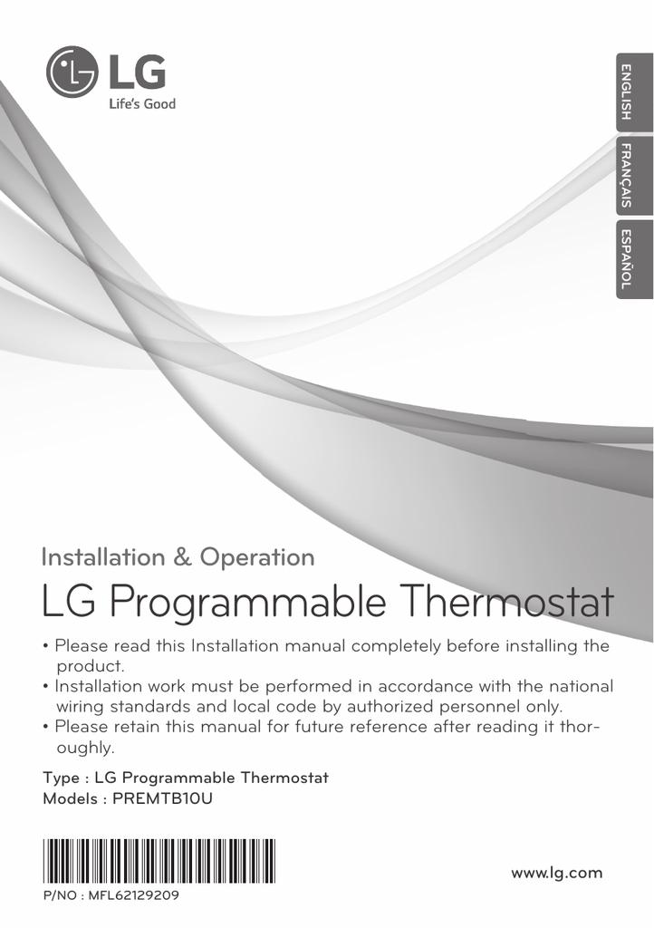 Lg Programmable Thermostat Manualzz