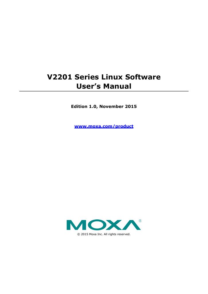 V2201 Series Linux Software User`s Manual | manualzz com