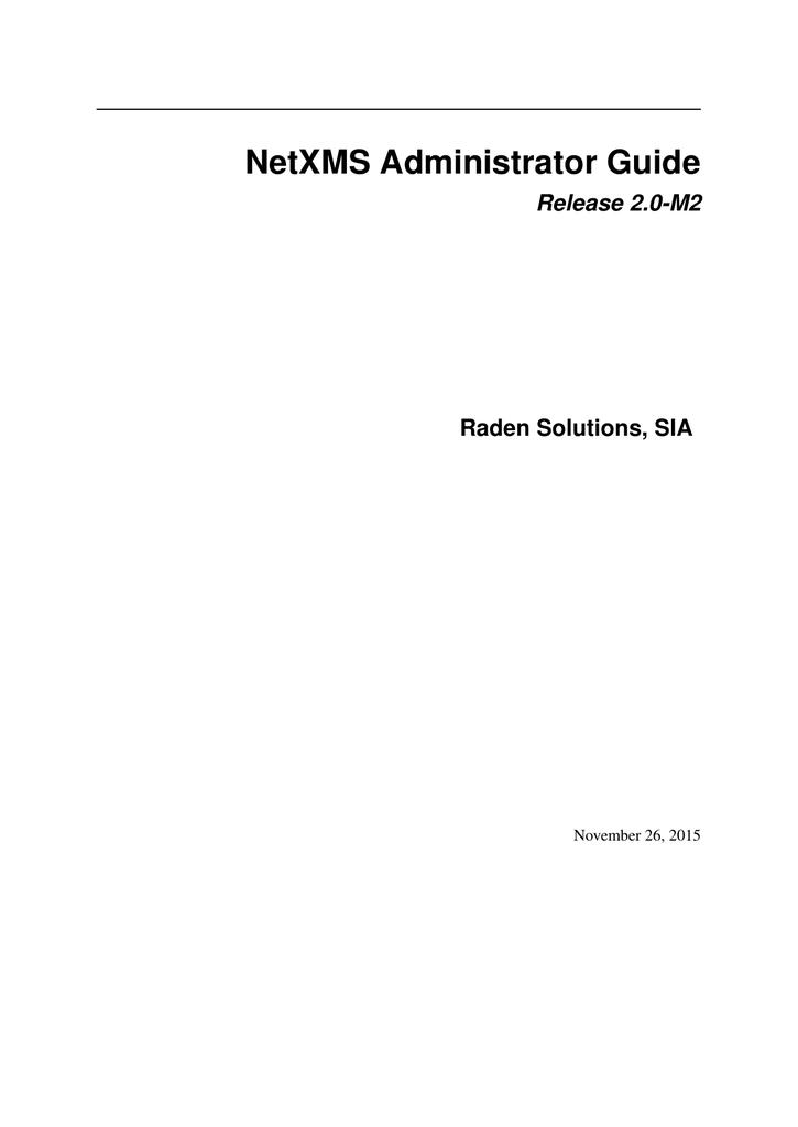 NetXMS Administrator Guide | manualzz com