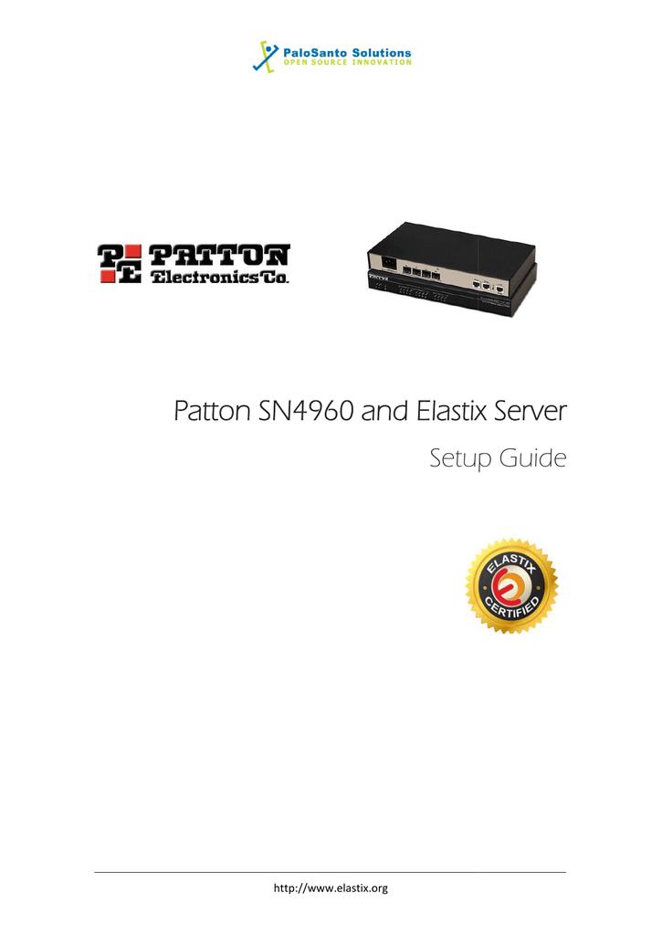 Patton SN4960 and Elastix Server | manualzz com