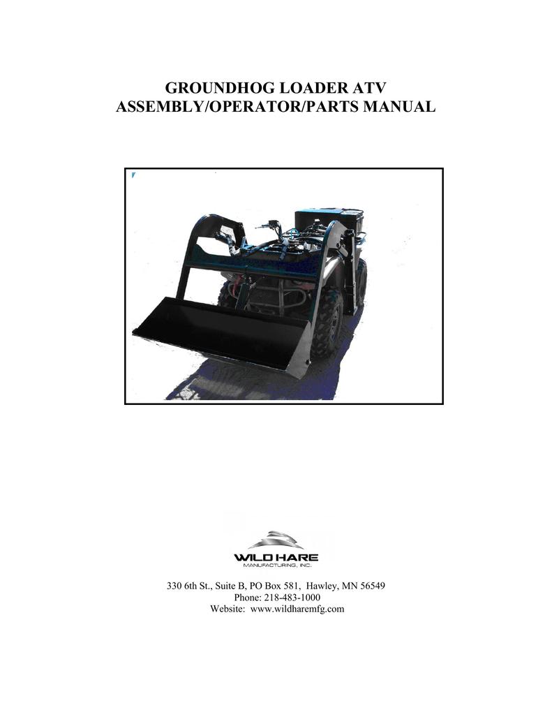 groundhog loader atv - ATV Front End Loader | manualzz com