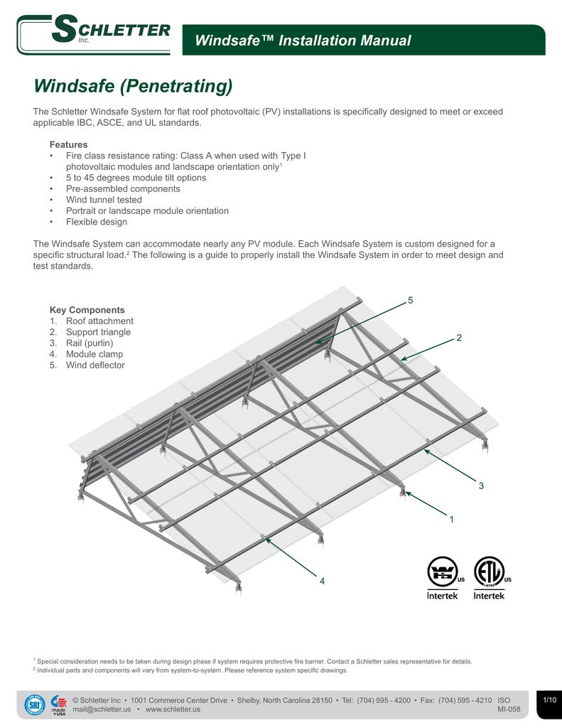 Windsafe™ Installation Manual | manualzz com