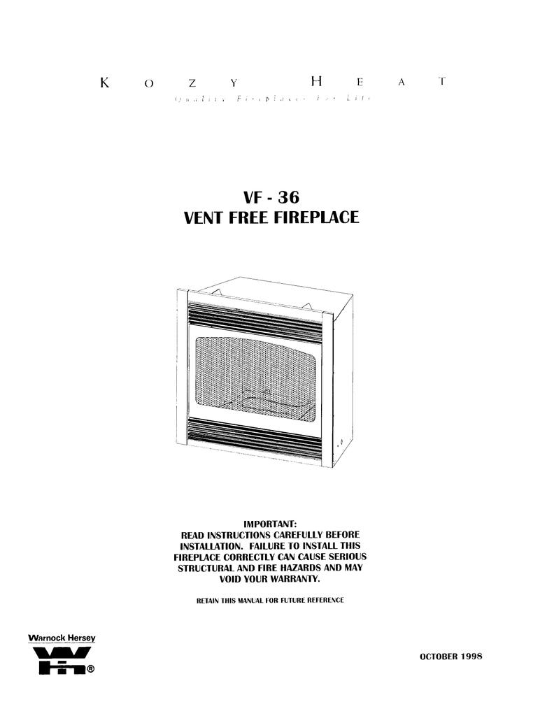 Kozy Heat Fireplaces Manualzz