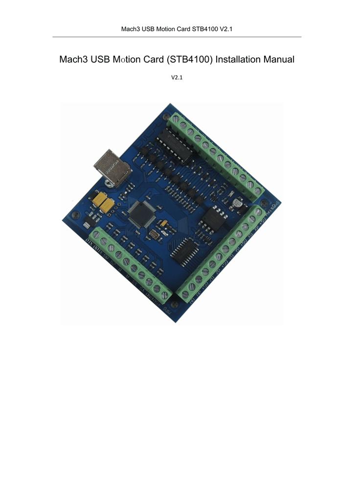 Usb Motion Card Stb4100 Manual Manualzz