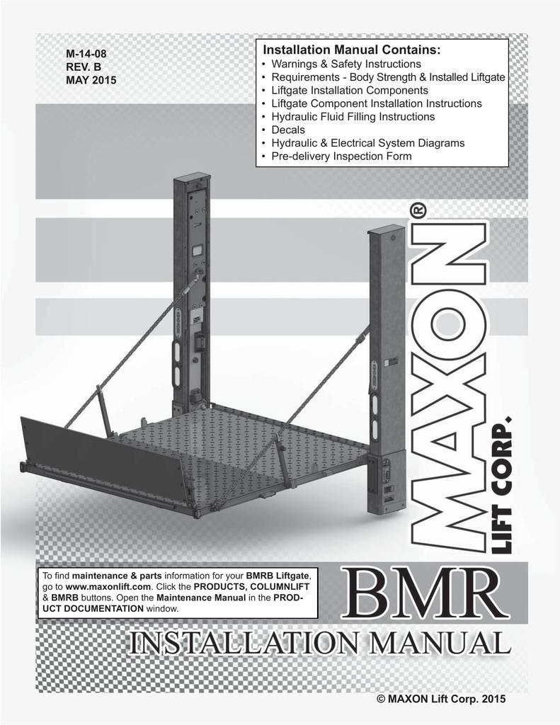 Continued - Maxon Lift | manualzz.com