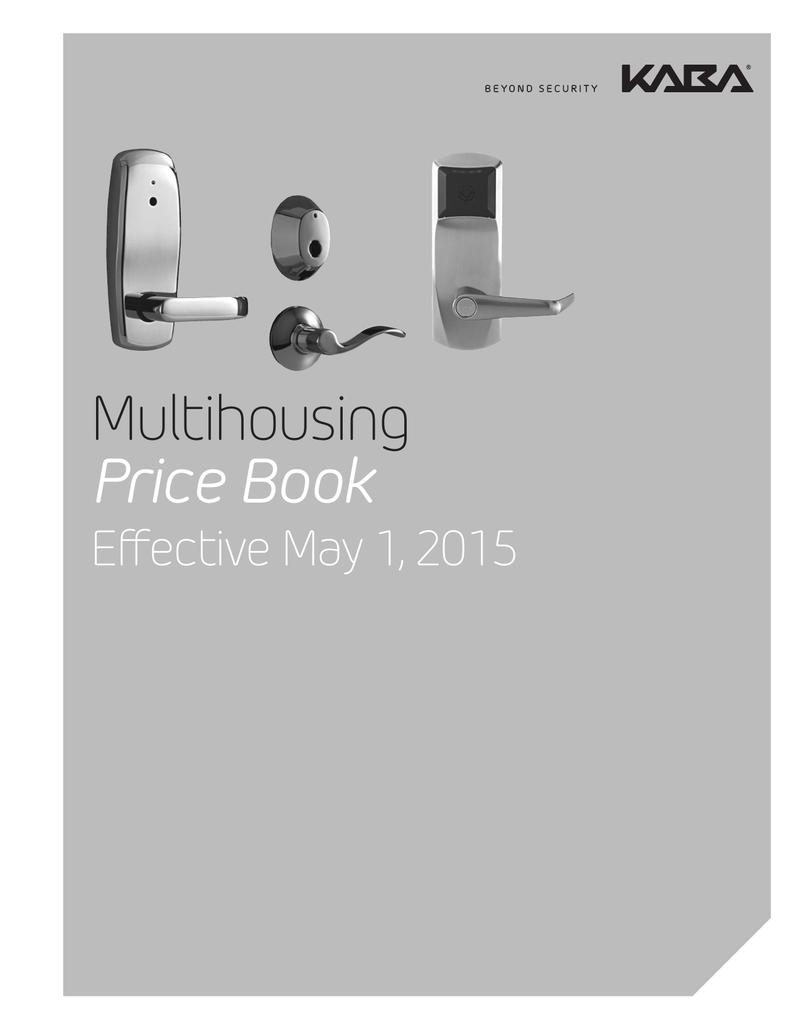 Multihousing Price Book | manualzz com