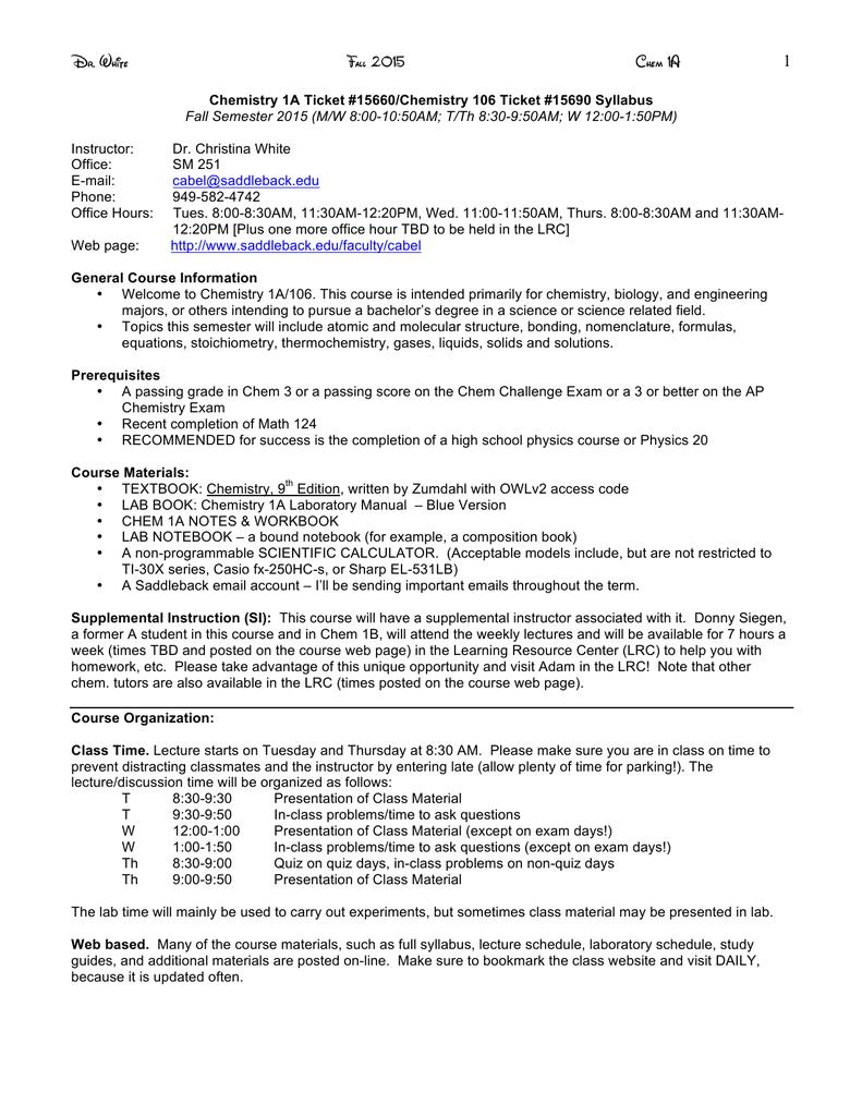 Syllabus - M/W Section   manualzz com
