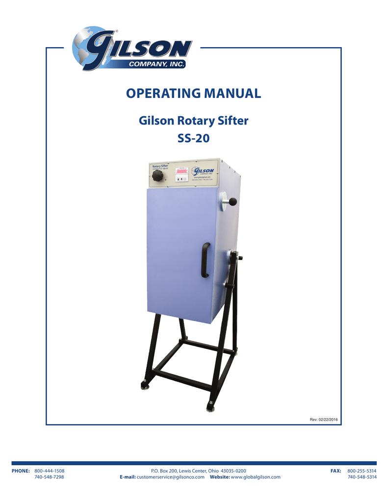 Ss 20 Manual Gilson Company Inc Wiring Diagram S 12