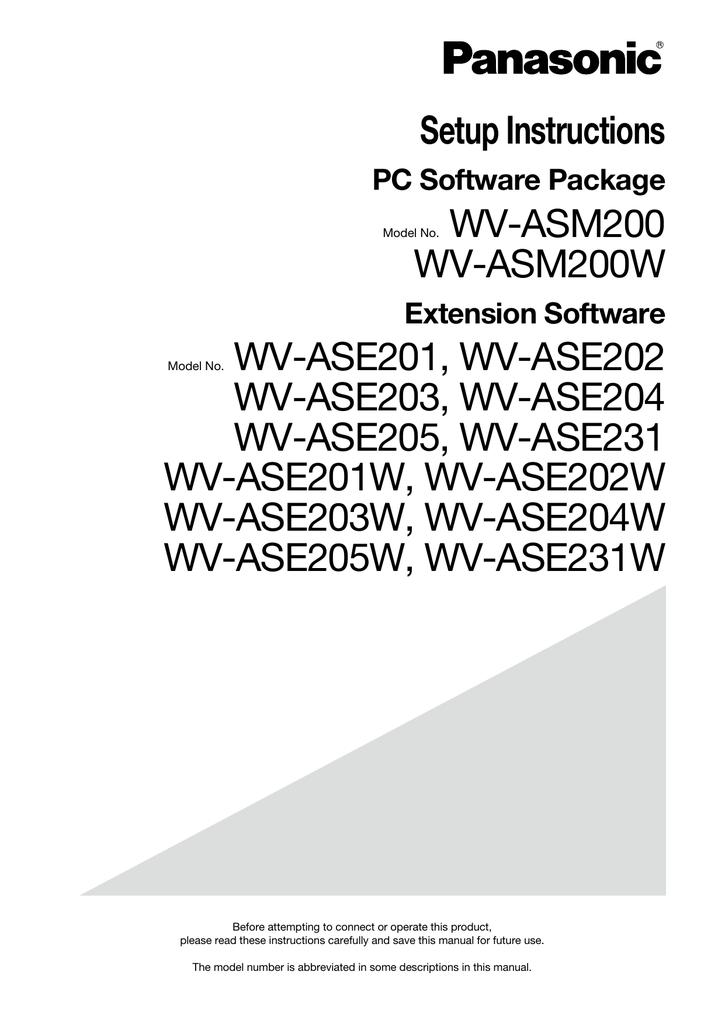 Setup Instructions WV-ASM200W Model No  WV - psn | manualzz com