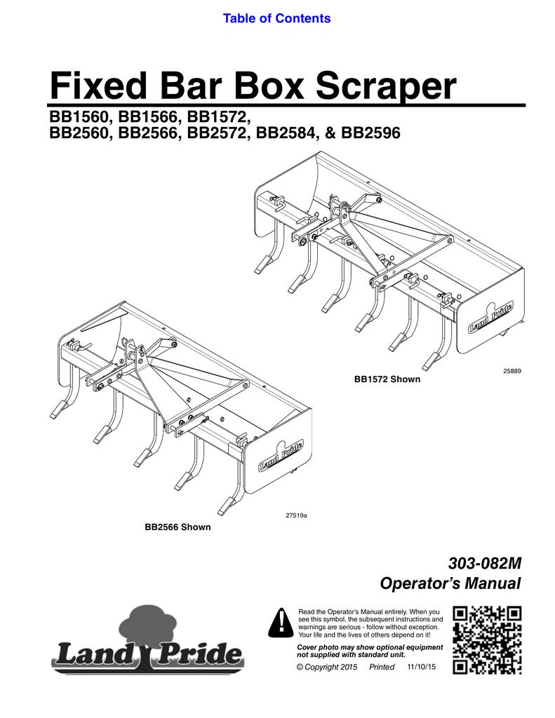 Fixed Bar Box Scraper | manualzz com