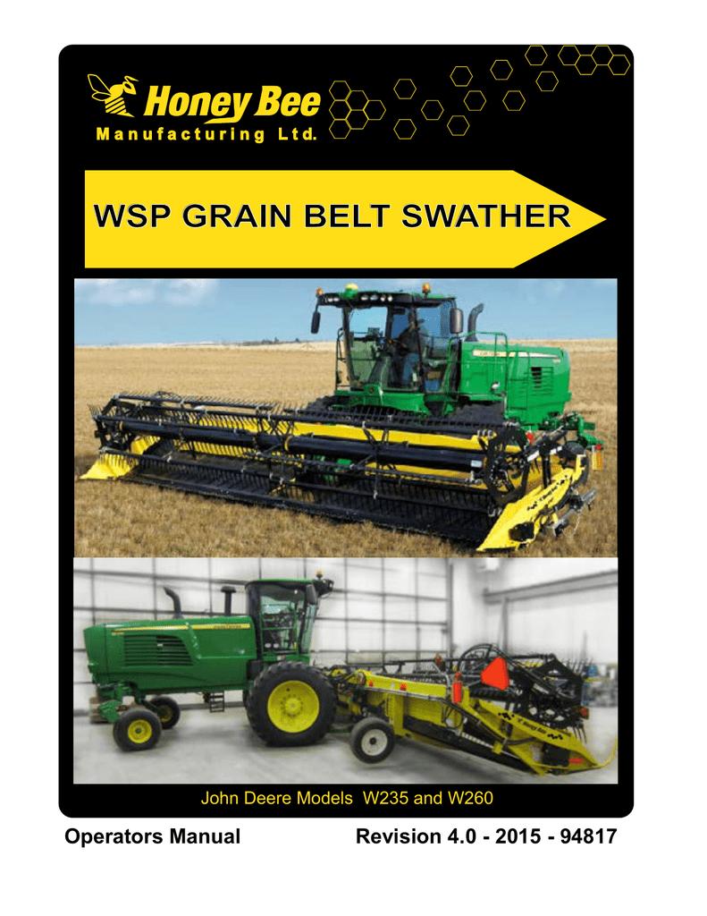 WSP GRAIN BELT SWATHER | manualzz com