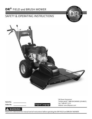 Owner`s Manual - DR Power Equipment | Manualzz | Dr Mower Wiring Diagram |  | Manualzz