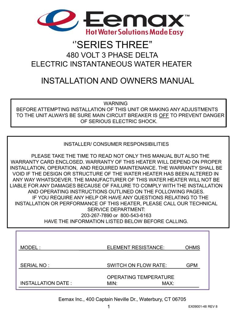 480 Volt Hot Water Heater Wiring Diagram - Wiring Diagrams List