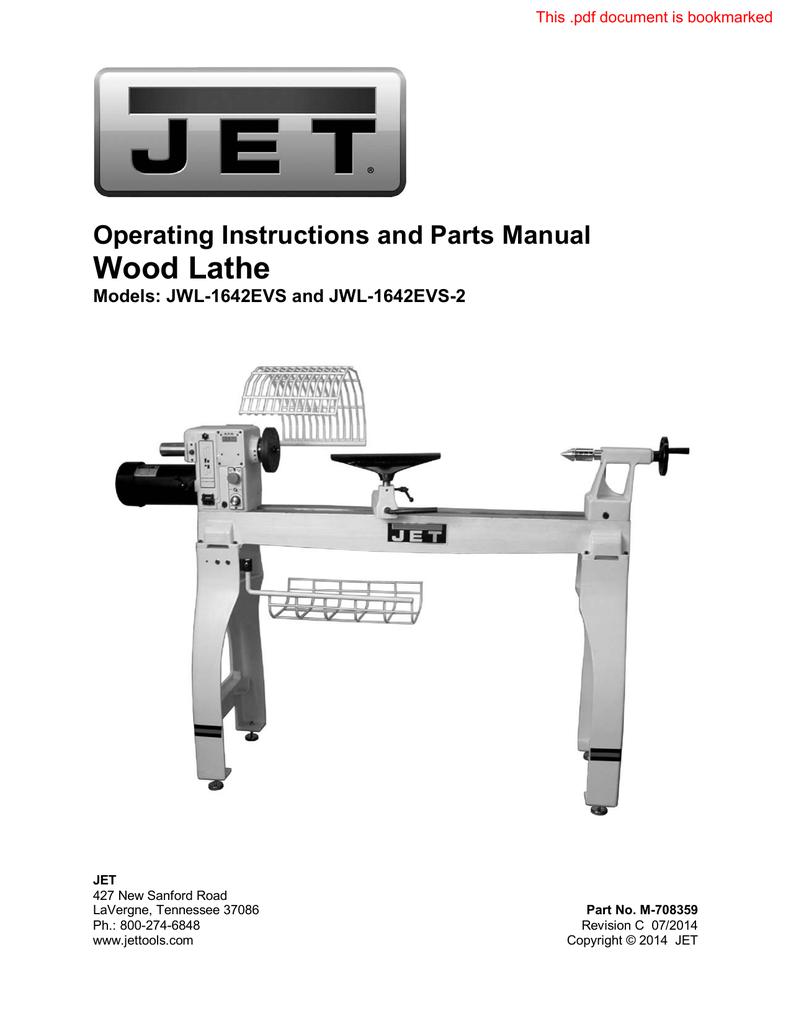 Jet Jwl 1642 Manual Rockler Woodworking Hardware Lathe Wiring Diagram