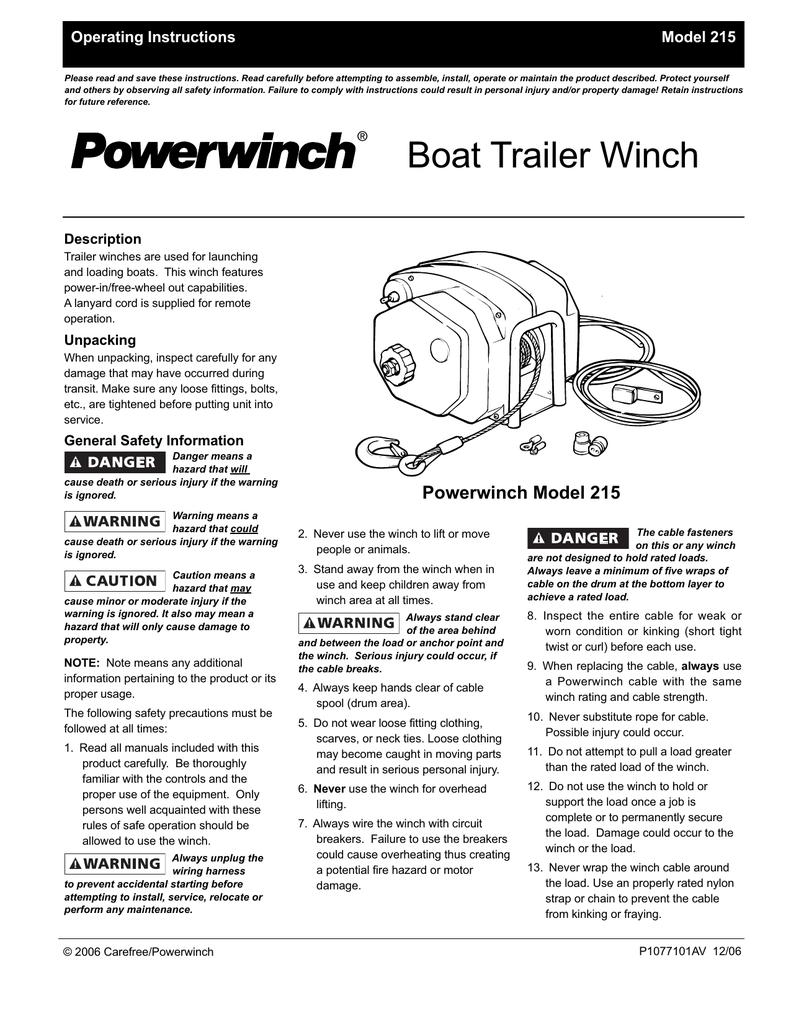 Boat Trailer Winch Windlass Anchor Store Wiring Diagram