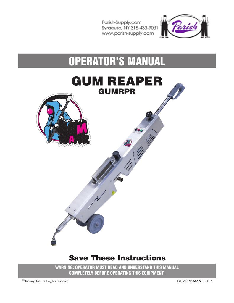 Gum Wand - Gun Reaper (owners manual) | manualzz com
