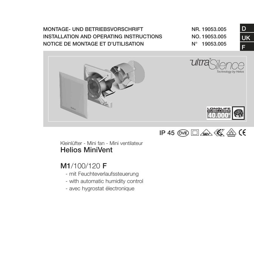 Helios MiniVent M1/100/120 F - Helios Ventilatoren GmbH + Co KG ...