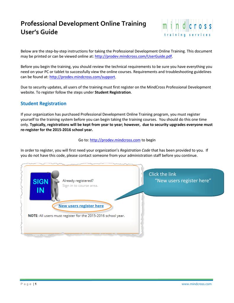 User`s Guide - MindCross Training   manualzz com