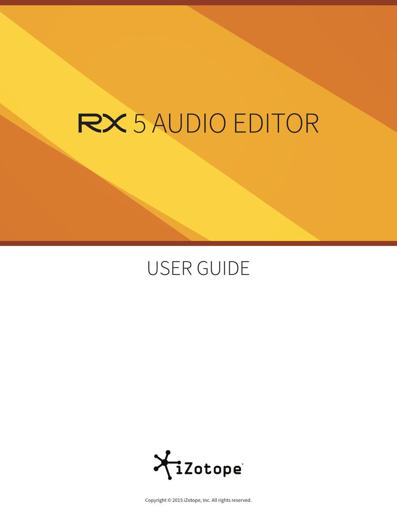 user guide - iZotope, Inc | manualzz com