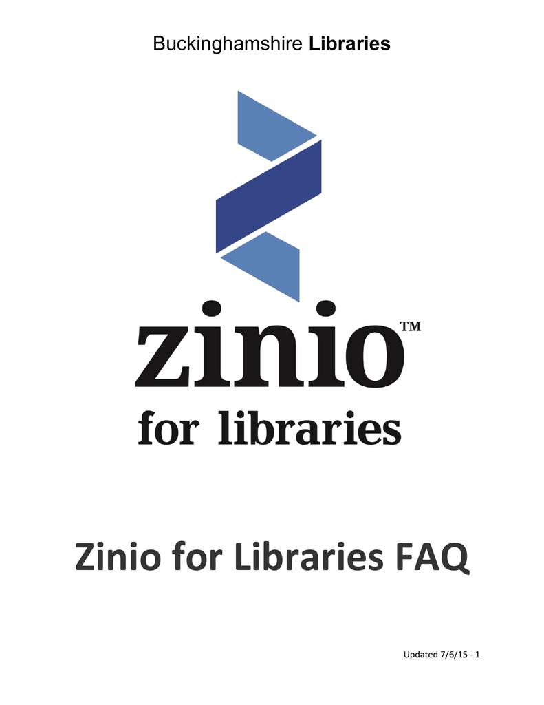 Zinio for Libraries FAQ | manualzz com