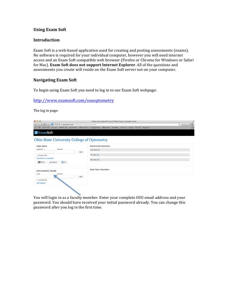 OSU Optometry Exam Soft User Guide | manualzz com