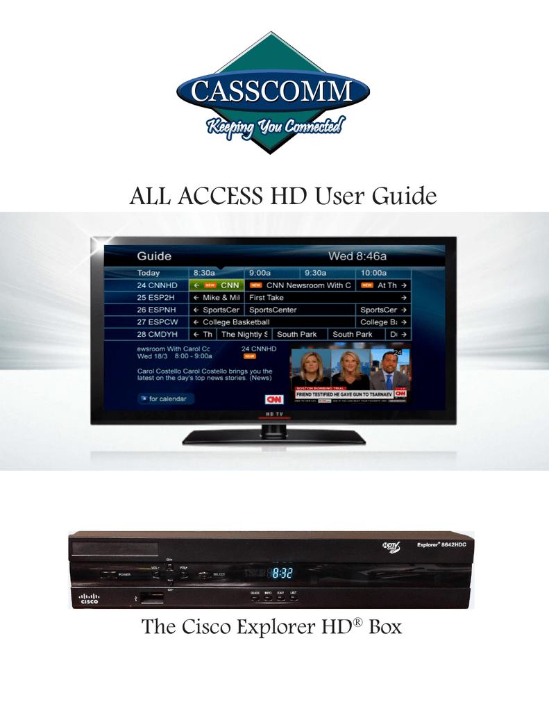 all access hd user guide manualzz com rh manualzz com Cisco Explorer 8642HDC Recording Capacity cisco explorer 8642hd user guide
