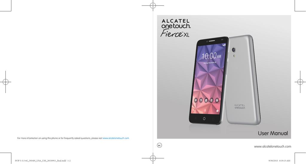 Alcatel onetouch Fierce XL User Guide | manualzz com