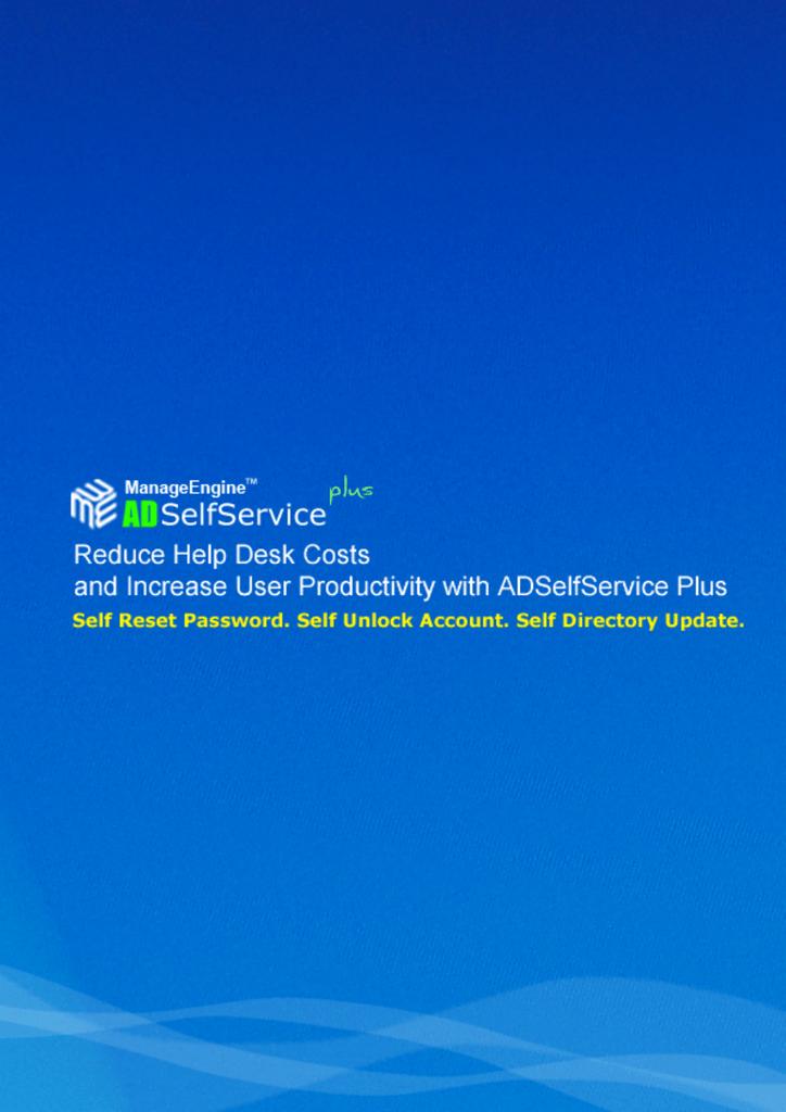 AdventNet ManageEngine ADSelfService Plus :: User Guide