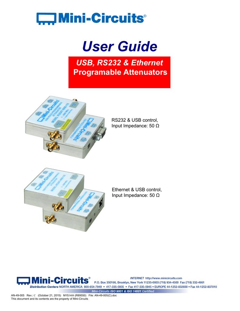 User Guide - Mini Circuits | manualzz com