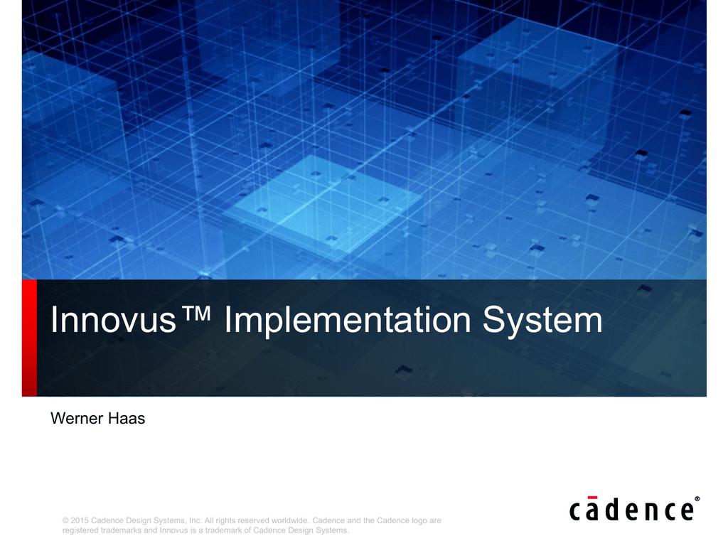 Innovus™ Implementation System   manualzz com