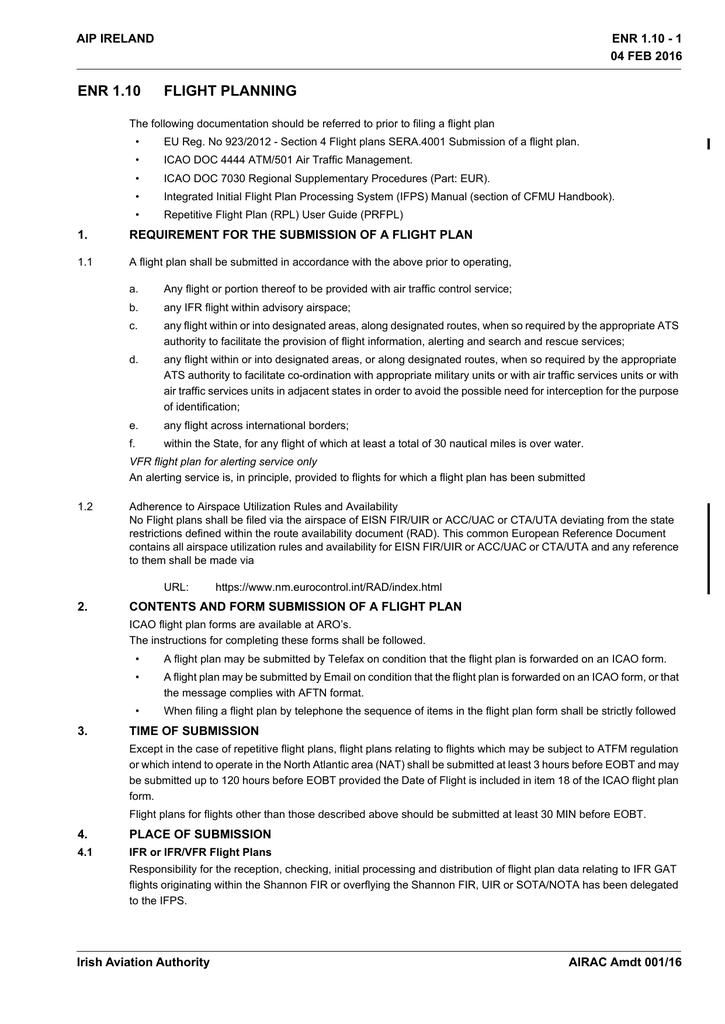 ENR 1 10 - Irish Aviation Authority | manualzz com