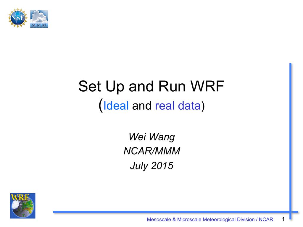 WRF - Setup and Run | manualzz com