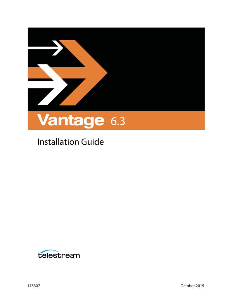 Vantage Installation Guide | manualzz com