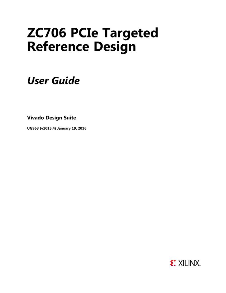 ZC706 PCIe Targeted Reference Design (UG963) | manualzz com