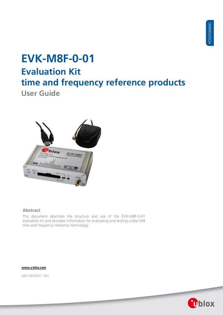 EVK-M8F-0-01 User Guide - u-blox   manualzz com