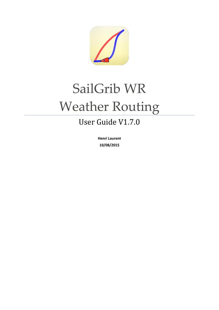 SailGrib WR | manualzz com