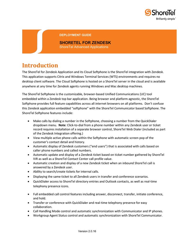 ShoreTel for Salesforce com Deployment Guide | manualzz com
