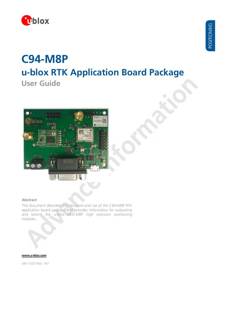 C94-M8P Application Board User Guide - u-blox | manualzz com