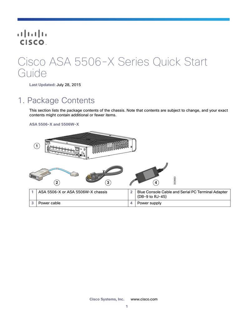 Cisco ASA 5506-X Series Quick Start Guide | manualzz com