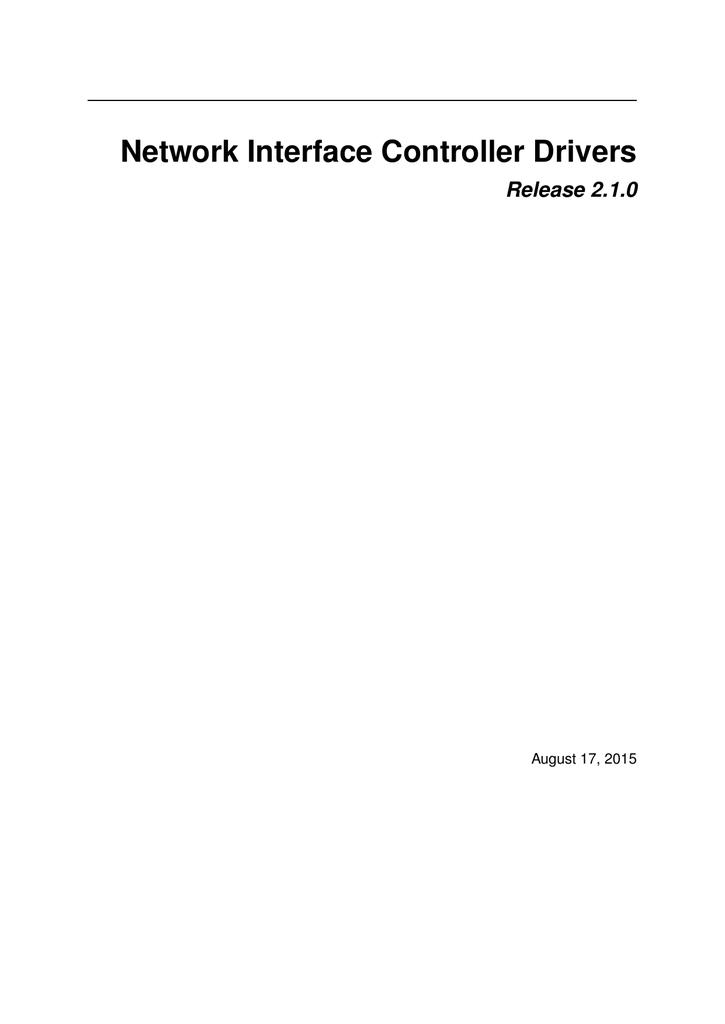Network Interface Controller Drivers | manualzz com