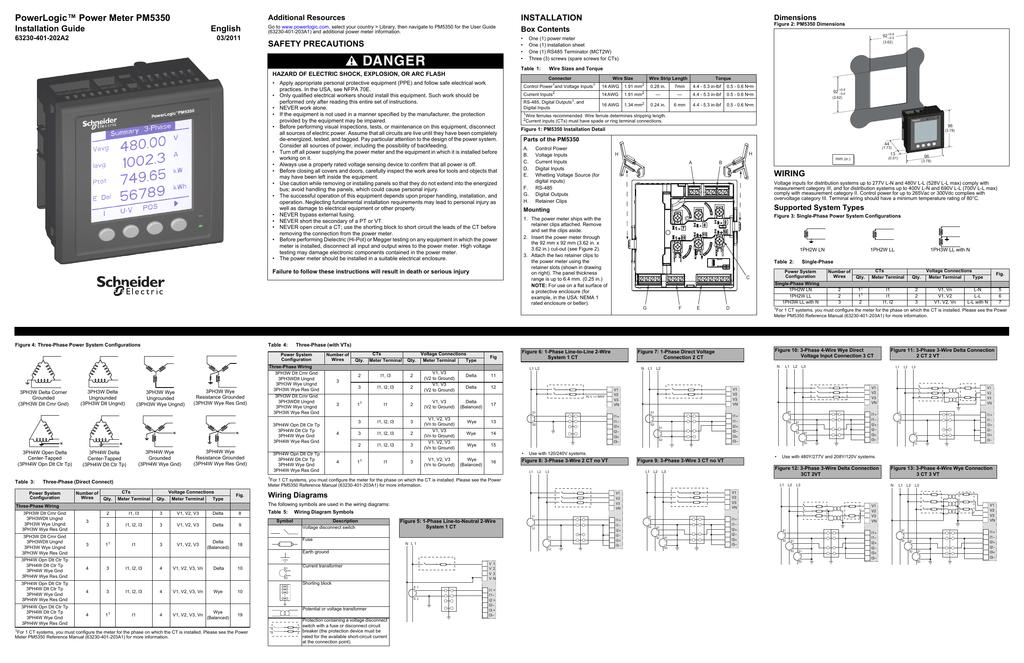 Powerlogic Power Meter Pm5350 Installation Guide